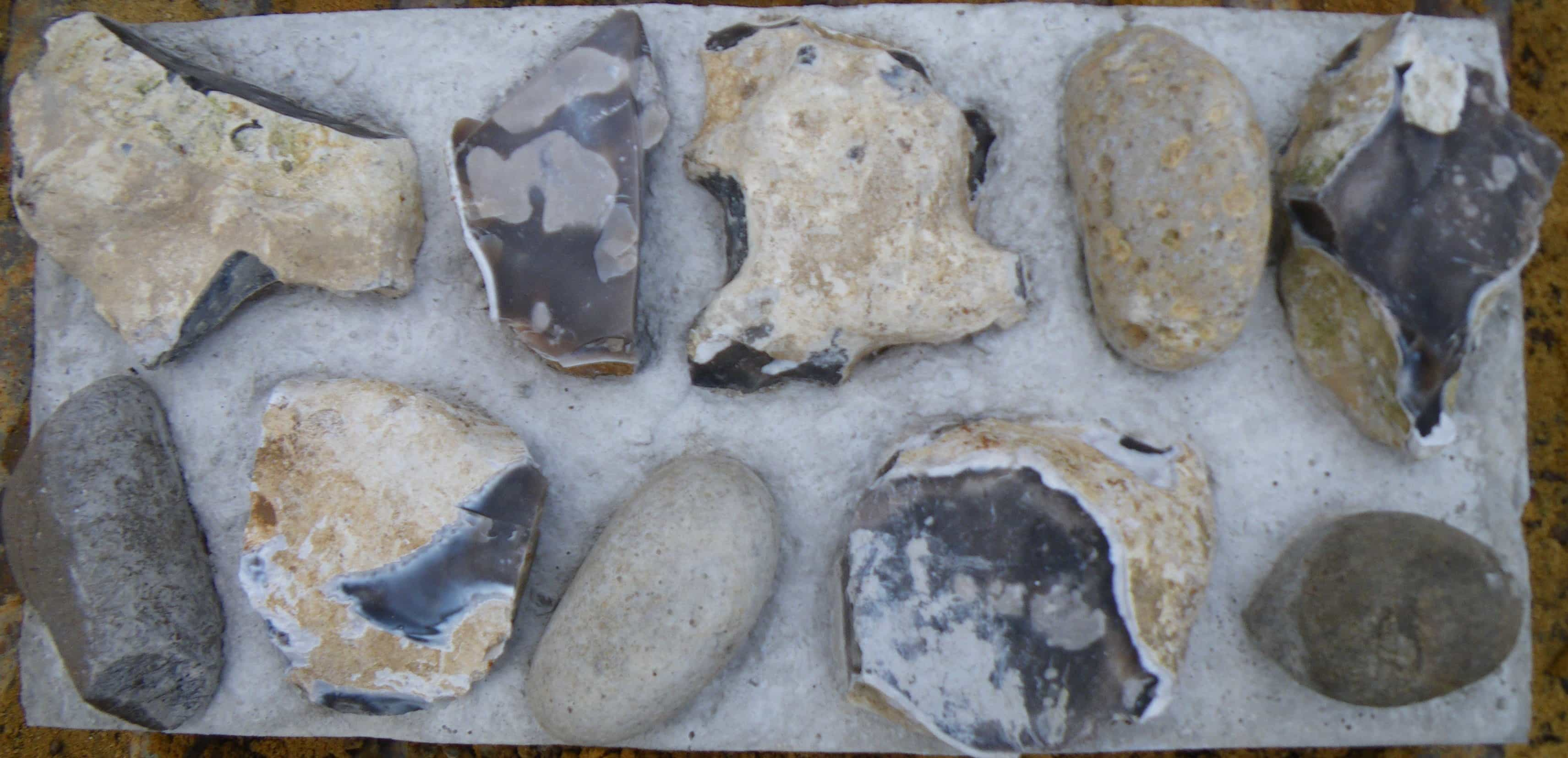 mixed coursed flint block