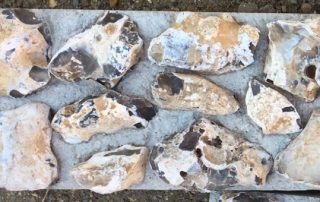 mixed random flint block