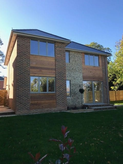Modern flint block house