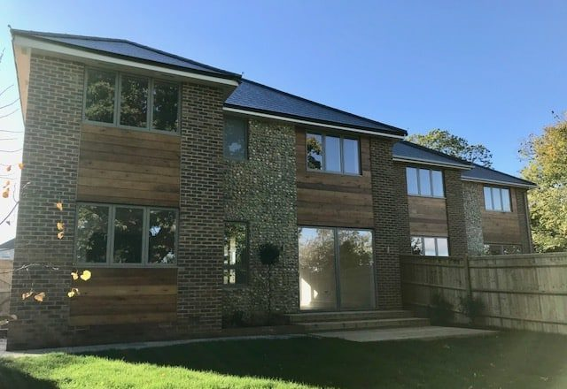Flint block houses Haywards Heath