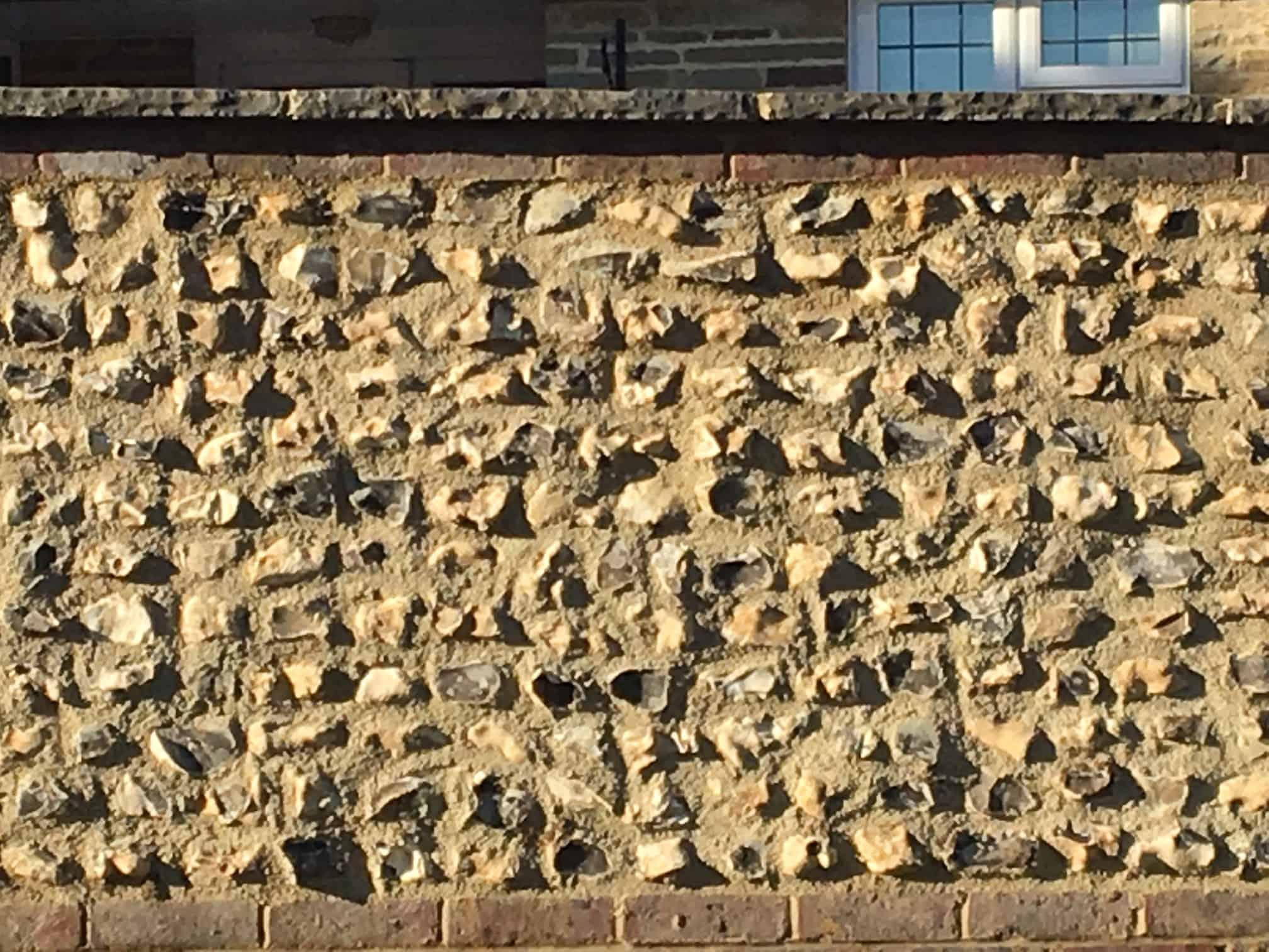 coursed flint blocks